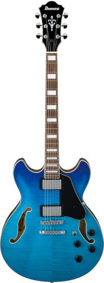 Ibanez AS73FM AZG AS Artcore Azure Blue Gradation Semi-Hollow Body Electric Guitar, AS73FMAZG