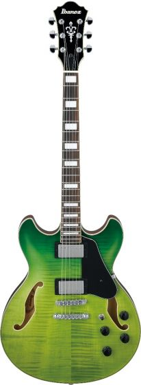 Ibanez AS73FM GVG AS Artcore Green Valley Gradation Semi-Hollow Body Electric Guitar, AS73FMGVG