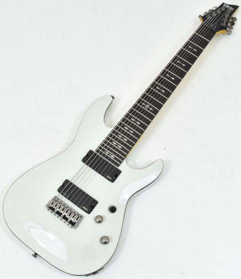 Schecter Omen-8 Electric Guitar in Vintage White Finish, 2073
