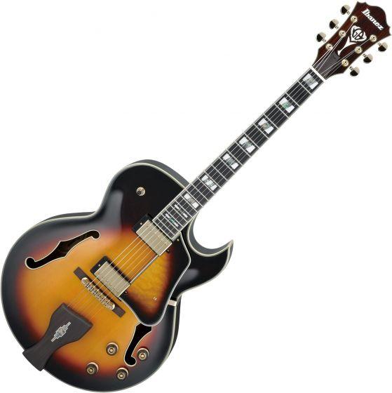 Ibanez Signature George Benson LGB30 Hollow Body Electric Guitar Vintage Yellow Sunburst, LGB30VYS