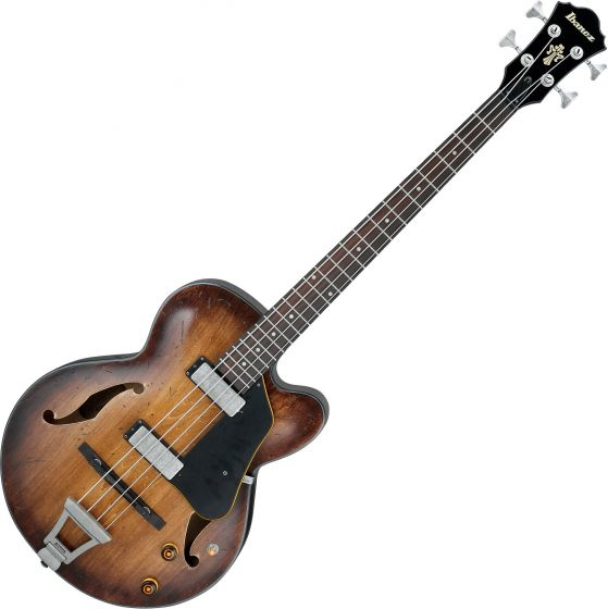 Ibanez Artcore Vintage AFBV200A Hollow Body Electric Bass Tobacco Burst, AFBV200ATCL