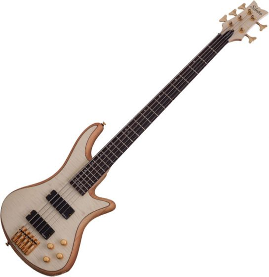 Schecter Stiletto Custom-5 Electric Bass Gloss Natural, 2541