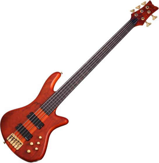 Schecter Stiletto Studio-5 FL Electric Bass Honey Satin, 2770