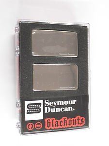 Seymour Duncan AHB-1S Original Blackouts Neck/Bridge Pickup Set Nickel Cover, 11106-32-Nc