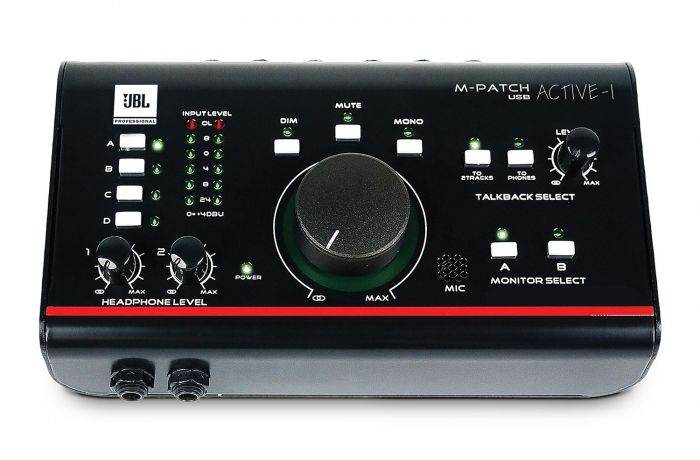 JBL M-Patch Active-1 Precision Monitor Control Plus Studio Talkback and USB I/O, ACTIVE-1