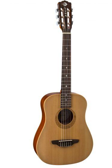 Luna Safari Nylon Travel Guitar Spruce w/Bag SAF NYL, SAF NYL