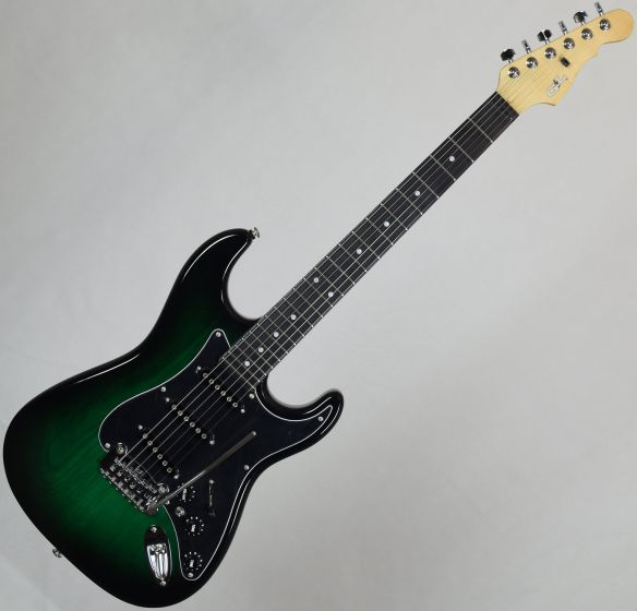 G&L USA S-500 Ebony Fingerboard Electric Guitar Greenburst[, USA S500-GBT-EB 7833]