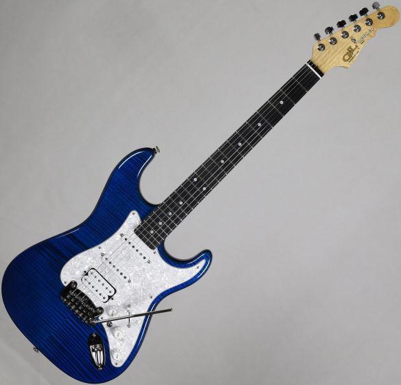 G&L USA Legacy HSS Flame Maple Top Electric Guitar Clear Blue, USA LGCYHB-CBL-EB 8918