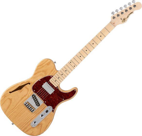 G&L Tribute ASAT Classic Bluesboy Semi-Hollow Electric Guitar Natural Gloss, TI-ACB-122R40M40