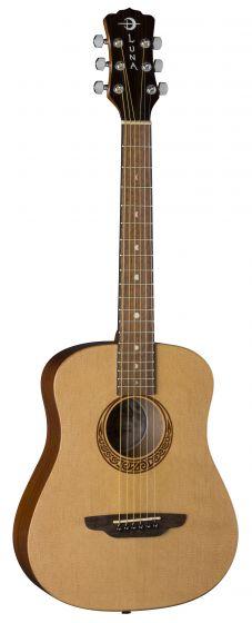 Luna Safari Muse Travel Acoustic Guitar Spruce w/Bag SAF MUS SPR, SAF MUS SPR