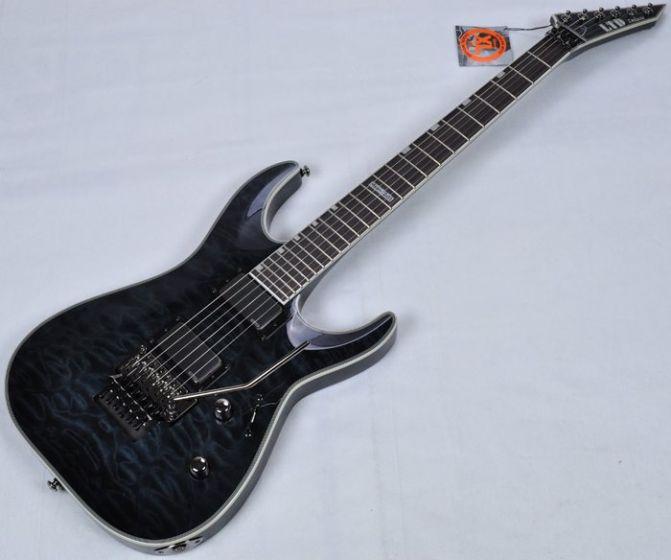 ESP LTD Deluxe MH-1001FR EMG Metalworks Electric Guitar in See Thru, MH-1001FR STBLK.B