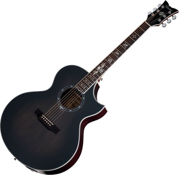 Schecter Signature Synyster Gates SYN GA SC Acoustic Electric Guitar in Trans Black Burst Satin Finish, 3701