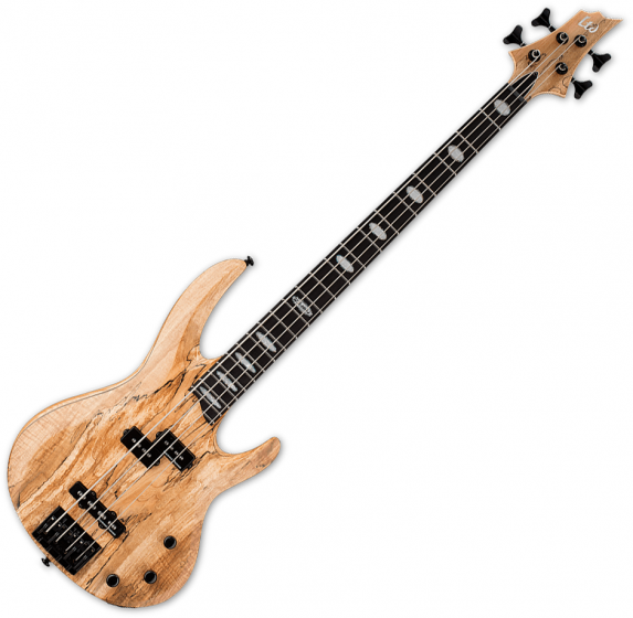 ESP LTD RB-1004SM Solid Spalted Maple Top Electric Bass Natural Satin, LRB1004SMNS