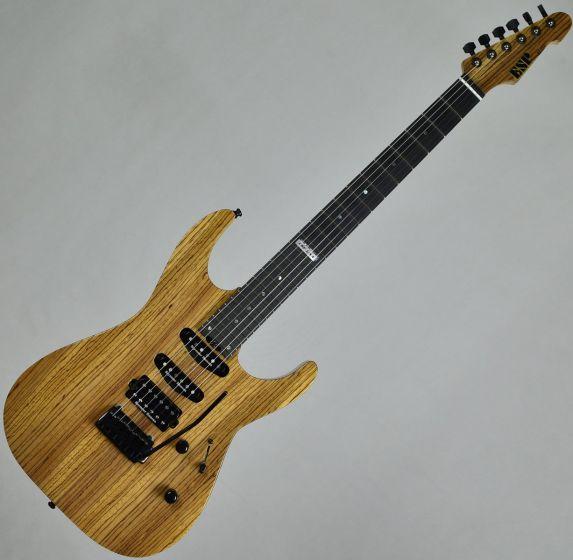 ESP USA M-III 2PT Zebrawood Top Okoume Body Electric Guitar Natural Gloss, EUSLEMIIIGTZEBNAT