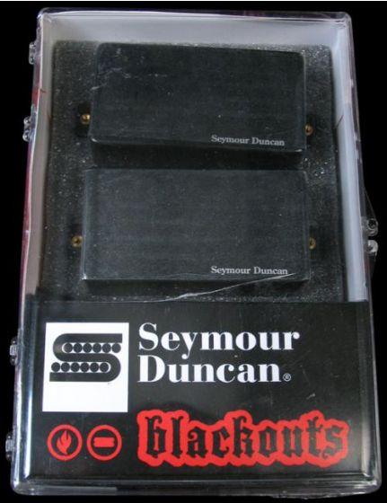 Seymour Duncan AHB-1S Original Blackouts Neck/Bridge Pickup Set Black Chrome Cover, 11106-32-BChr