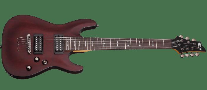 Schecter Omen-7 Electric Guitar in Walnut Satin Finish, 2068