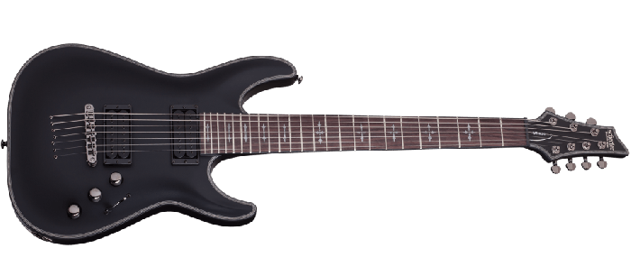 Schecter Hellraiser C-7 P Electric Guitar Satin Black, 1942