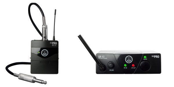 AKG WMS40 Mini Single Instrumental Set Wireless Microphone System - Frequency B, 3348H00070