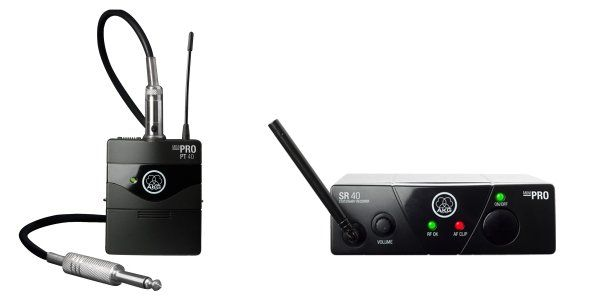 AKG WMS40 Mini Single Instrumental Set Wireless Microphone System - Band A, 3348H00110