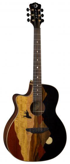 Luna Vista Wolf Tropical Wood Left Handed Acoustic Electric Guitar w/Case VISTA WOLF L, VISTA WOLF L