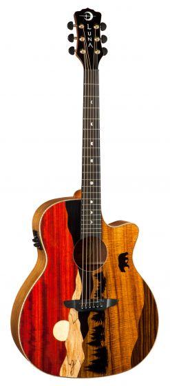 Luna Vista Bear Tropical Wood Acoustic Electric Guitar VISTA BEAR, VISTA BEAR