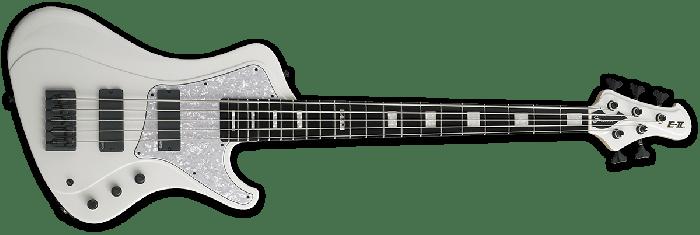 ESP E-II Stream SL-5 Electric Bass Guitar in Snow White[, EIISTREAMSL5SW]