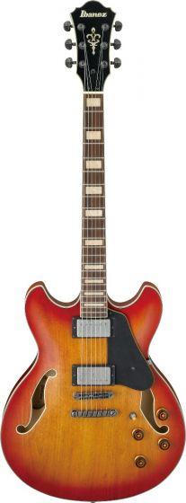 Ibanez ASV73 VAL ASV Artcore Vintage Amber Burst Low Gloss Hollow Semi-Body Electric Guitar, ASV73VAL
