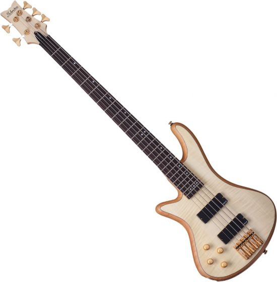 Schecter Stiletto Custom-5 Left-Handed Electric Bass Gloss Natural[, 2542]