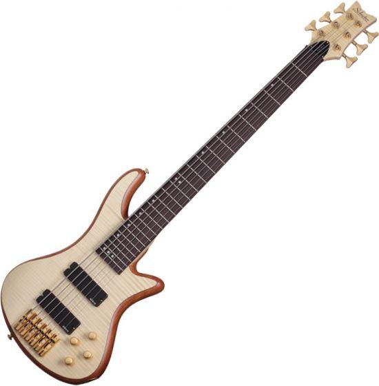 Schecter Stiletto Custom-6 Electric Bass Gloss Natural[, 2543]