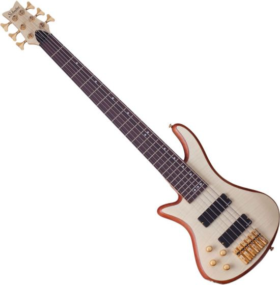 Schecter Stiletto Custom-6 Left-Handed Electric Bass Gloss Natural[, 2544]