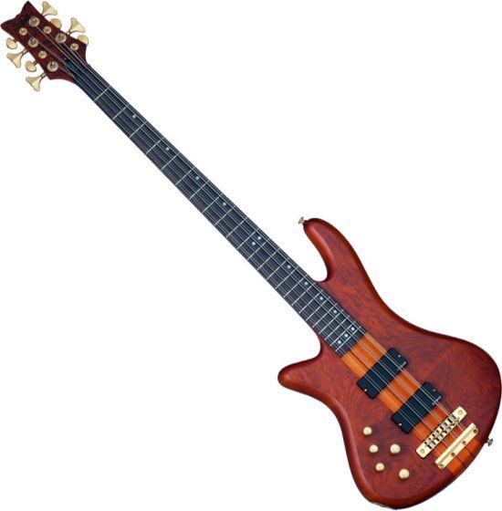Schecter Stiletto Studio-8 Left-Handed Electric Bass Honey Satin, 2741