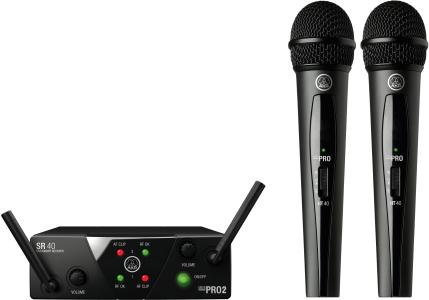 AKG WMS40 Mini Dual Vocal Set - Channels A/B, 3350X00050
