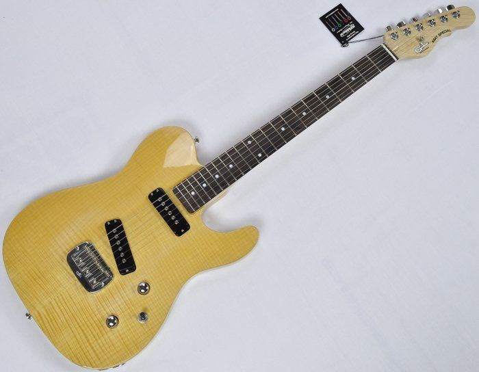 G&L Tribute ASAT Special Deluxe Flamed Maple Top Guitar in Natural, ASAT Special Deluxe Natural