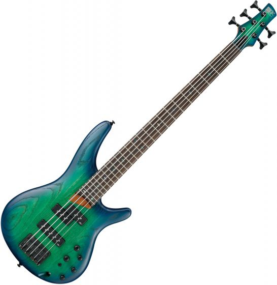 Ibanez SR Standard SR655 5 String Electric Bass Surreal Blue Burst[, SR655SBB]