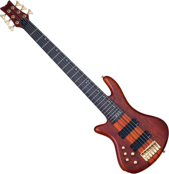 Schecter Stiletto Studio-6 Left-Handed Electric Bass Honey Satin, 2790