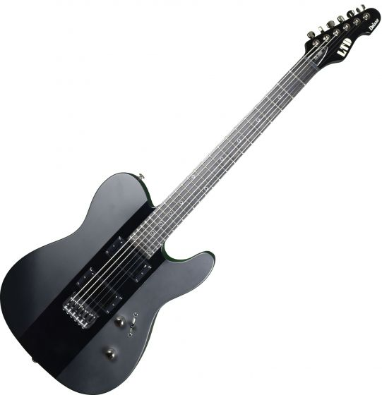 ESP LTD Deluxe TE-1000 Prototype Electric Guitar Satin Black Gloss Stripe, LXTE1000BLKSGS.P 0702