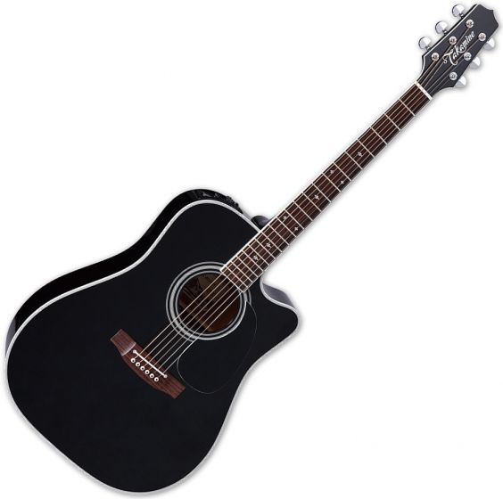 Takamine EF341SC Legacy Series Acoustic Guitar in Gloss Black Finish, TAKEF341SC