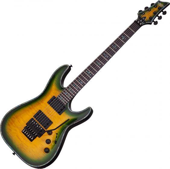 Schecter Hellraiser C-1 FR Passive Electric Guitar in Dragon Burst Finish, 1952