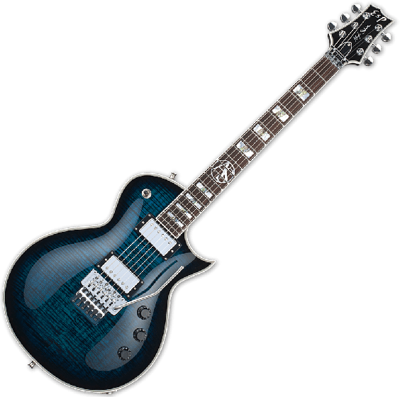 ESP Alex Skolnick FR Electric Guitar in Black Aqua Sunburst, Alex Skolnick FR BLKAQSB