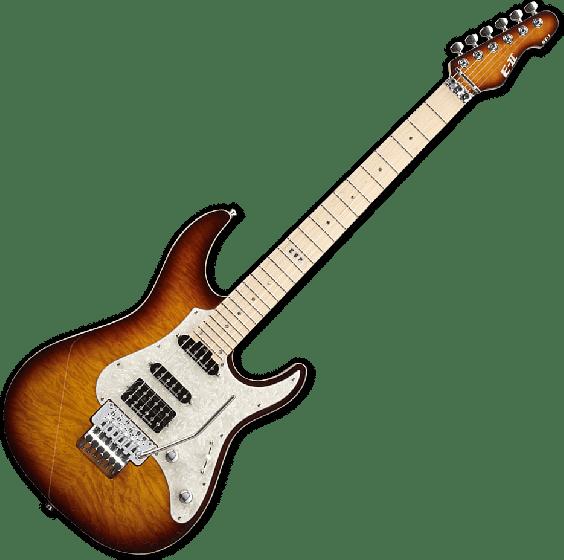 ESP E-II ST-1 QM Electric Guitar in Tea Sunburst, E-II ST-1 QM