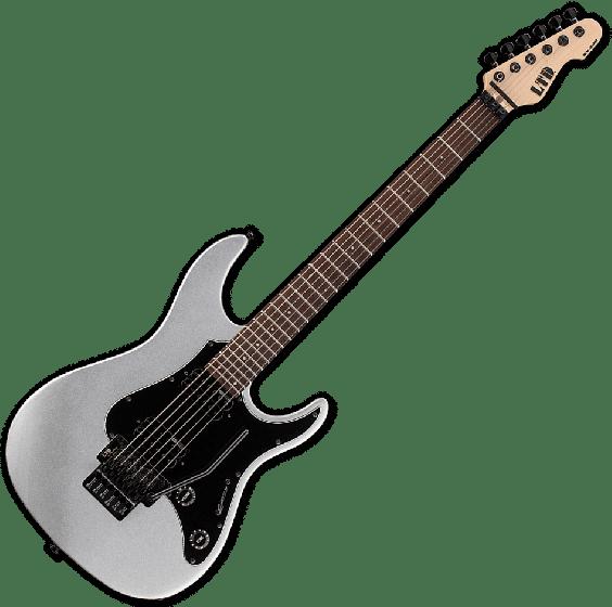 ESP LTD SN-200FR Electric Guitar in Metallic Silver, LSN200FRRMS