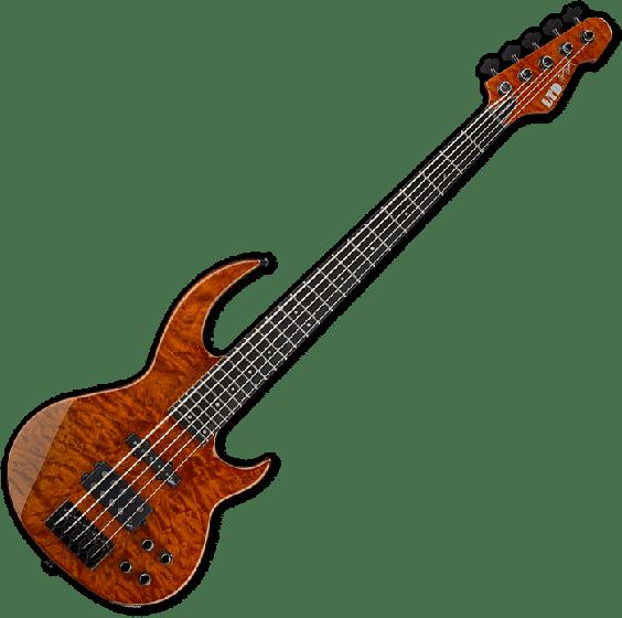ESP LTD BB-1005 QM Bunny Brunel Electric Bass in Burnt Orange[, BB-1005QM BOR]