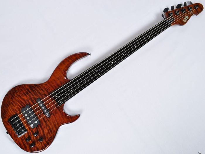 ESP LTD BB-1005FL QM Fretless Bunny Brunel Electric Bass in Burnt[, BB-1005FL QM BOR]
