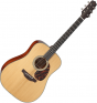 Takamine EF340S-TT Dreadnought Acoustic Guitar Gloss Natural, TAKEF340STT