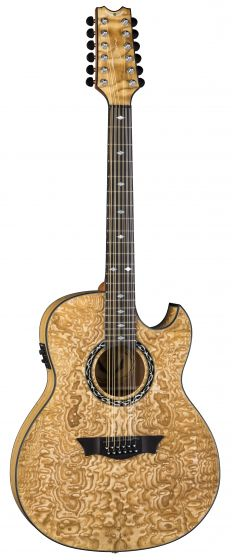 Dean Exhibition Quilt Ash Acoustic Electric 12 String Guitar GN EXQA12 GN, EXQA12 GN