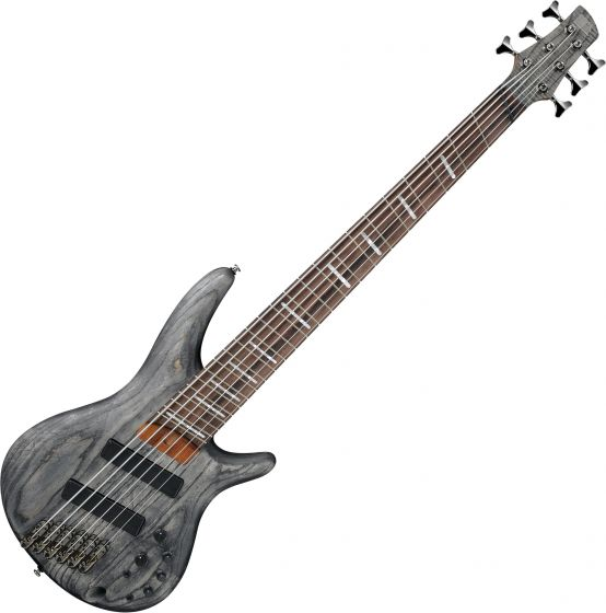 Ibanez SR Bass Workshop SRFF806 Multi-Scale 6 String Electric Bass Black Stained, SRFF806BKS