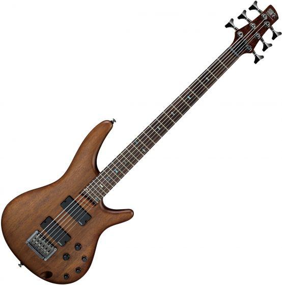 Ibanez SR Bass Workshop SRC6 6 String Electric Bass Walnut Flat, SRC6WNF
