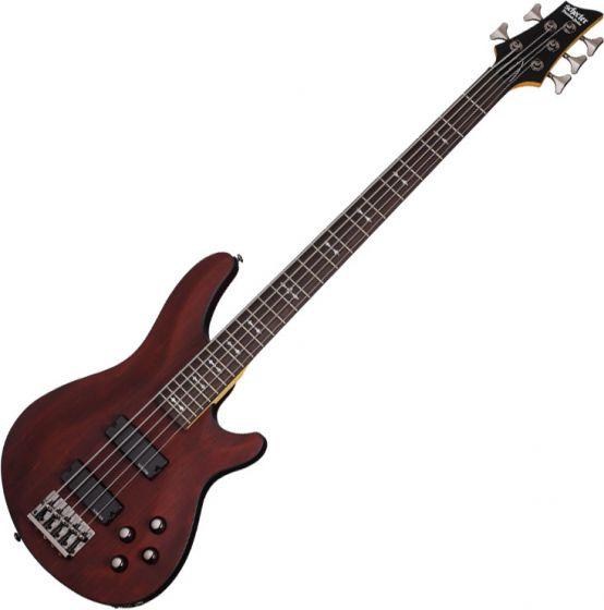 Schecter Omen-5 Electric Bass in Walnut Satin Finish, 2094