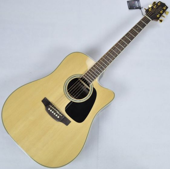 Takamine GD51CE-NAT G-Series G50 Cutaway Acoustic Electric Guitar in Natural Finish, TAKGD51CENAT