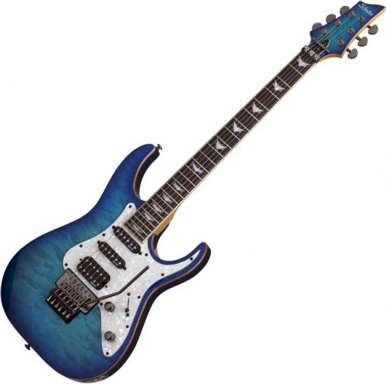Schecter Banshee-6 FR Extreme Electric Guitar in Ocean Blue Burst Finish, 1994